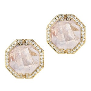 Patras Rainbow Moonstone Stud Earrings