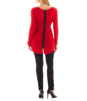 redleathertrimsweater