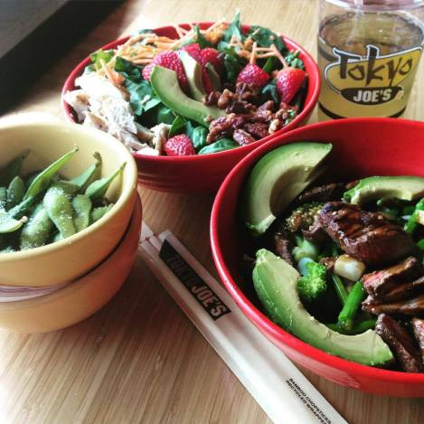 Dishes at Tokyo Joe's
