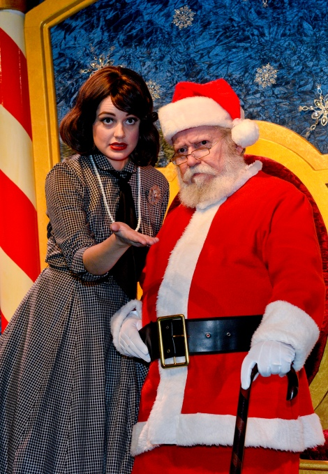 Janelle Lutz and Francis Fuselier lead cast of DCT's MIRACLE ON 34TH STREET. Photo courtesy of DCT.