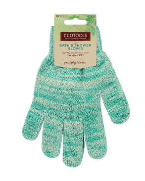 Eco Tools Bath & Shower Gloves in Aqua