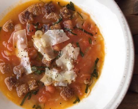 Pappa al Pomodoro - basil, grana padano, crouton
