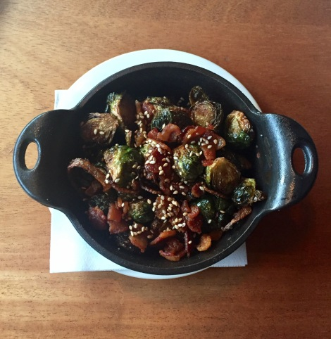 Iron Skillet Brussel Sprouts